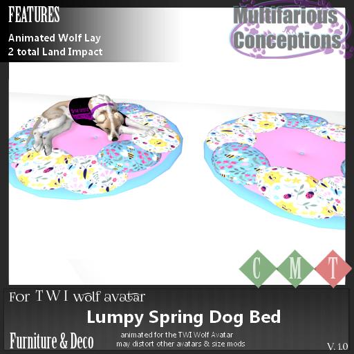 [MC] Lumpy Spring Dog Bed [add me]