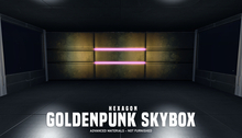 HEXAGON goldenpunk skybox - pink & gold