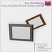Full Perm Sculpted Rectangular Square Wall Picture Frame  Builders Kit Set