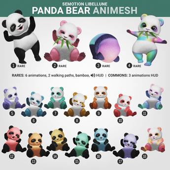 SEmotion Libellune Panda Bear Animesh #10