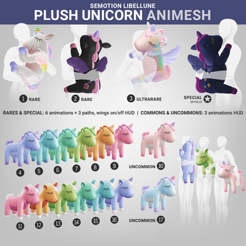 SEmotion Libellune Plush Unicorn Animesh #14