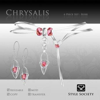 (Style Society) Chrysalis Rose Quartz Set