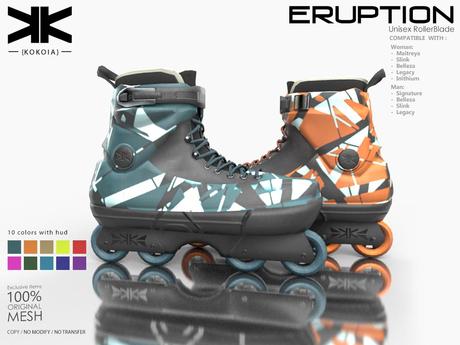 Eruption :: Unisex RollerBlade :: 10 Colors :: {kokoia}