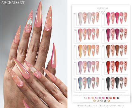 Ascendant - Be my Valentine Nails Fatpack