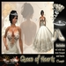 """Aphrodite """"Queen of Hearts"""" bridal dress TRANSFER (boxed)"""