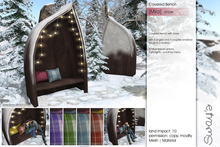 Sway's [Mira] Covered Bench . Snow