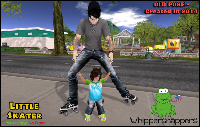 ! Whippersnappers ! - Little Skater (Retired pose-half off price)