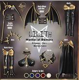 LILITH FULL SET BLACK + RARE (8 Pcs) MAITREYA/LARA