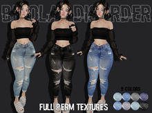 Bipolar Disorder - FULL PERM Ripped Jeans Textures for Absen