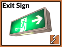 Exit Sign (slightly worn)