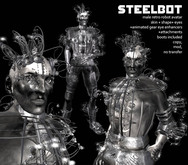Grim Bros. Male Steelbot - steampunk automaton avatar