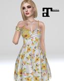 XK Maitreya Phoebe Spring Dress Yellow