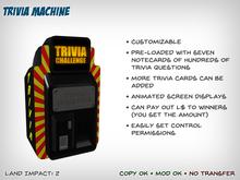 Customizable Trivia Machine / Trivia Game
