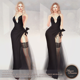 .:FlowerDreams:. Roxane Gown - charcoal