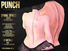 PUNCH Spinal Piercing / Spikes / Legacy Atheltic Kupra Jake Slink HG Belleza Maitreya Signature Bento Mesh Body Jewelry