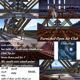 Furnished Open air Club with Bento line dances-Crate