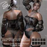 YoUnique Couture Felice - Hot Bodysuit 10 Textures 7 Black Garter