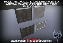~Full perm sculpted  Corrugated plates fence + Maps! and textures