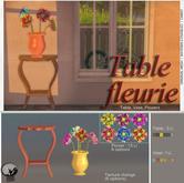 *PC* Table fleurie Set