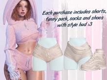 Lunar - Fany Shorts & Socks & Shoes - Cream