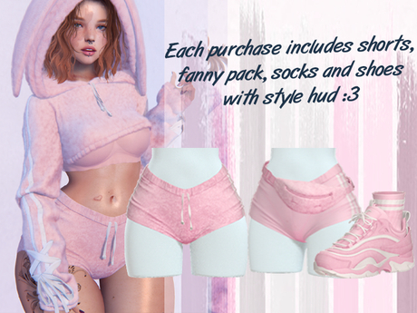 Lunar - Fany Shorts & Socks & Shoes - Bubblegum Pink