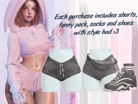Lunar - Fany Shorts & Socks & Shoes - Grey