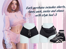 Lunar - Fany Shorts & Socks & Shoes - Midnight