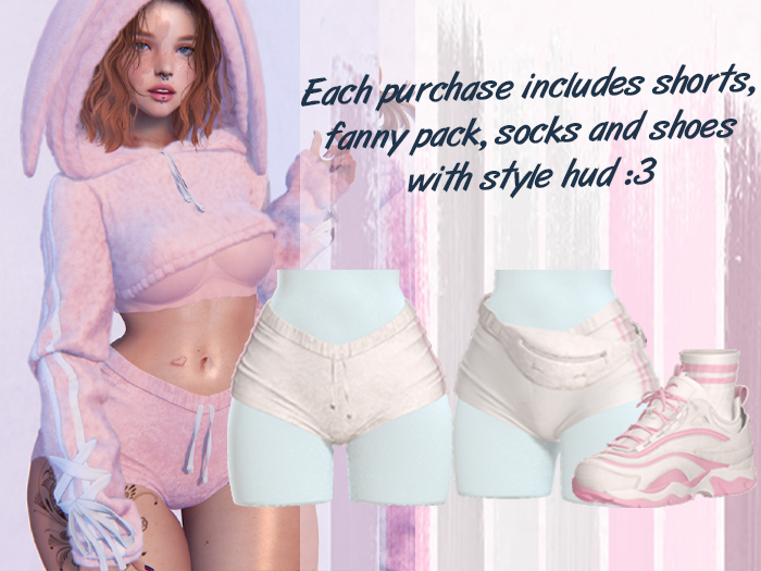 Lunar - Fany Shorts & Socks & Shoes - White