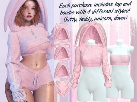Lunar - Fany Top & Hoodie - Bubblegum Pink