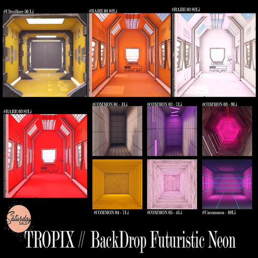 TROPIX // BackDrop Futuristic Neon - #COMMON 04 [BOX]