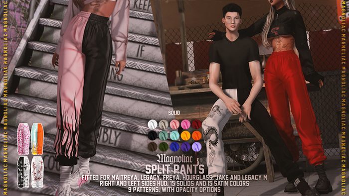 Magnoliac - Split Pants (Solid)