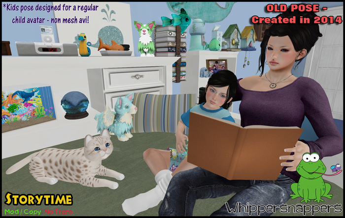 ! Whippersnappers ! - Storytime (Retired pose-half off price)