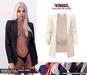 TETRA - Valerie Blazer + Hoodie & Shirt (Ivory)