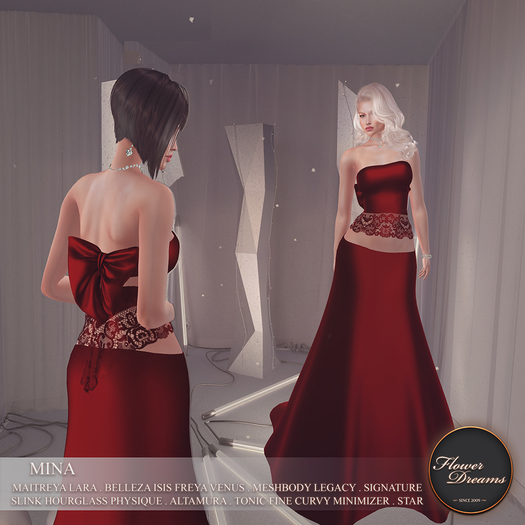 .:FlowerDreams:.Mina Gown - red