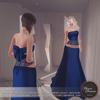 .:FlowerDreams:.Mina Gown - navy
