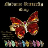 Ashira's Madame Butterfly Ring