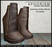 !APHORISM! Sabrina Ankle Boots - Caramel