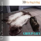 USDesigns Furs Rug and Bag Group gift