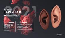 :ANDORE: - Mesh Ears  - Fantasy edition HD [ BENTO & NON Rig ]