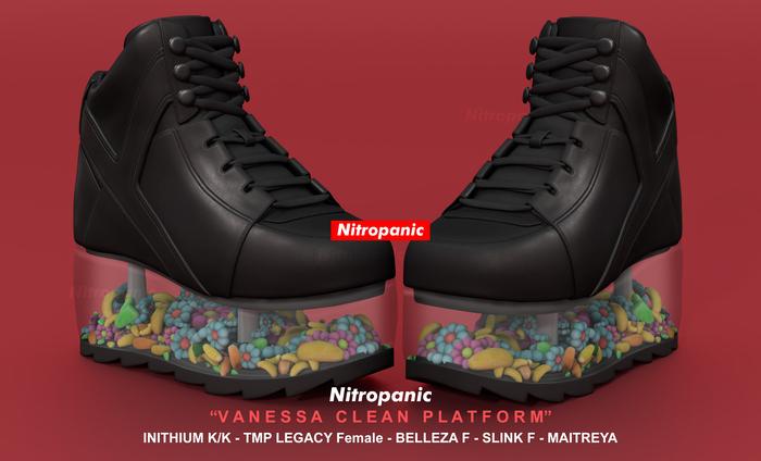 NitroPanic_Vanessa Clear Platform Black