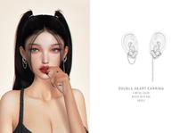 = DAE = Double heart earring fixed