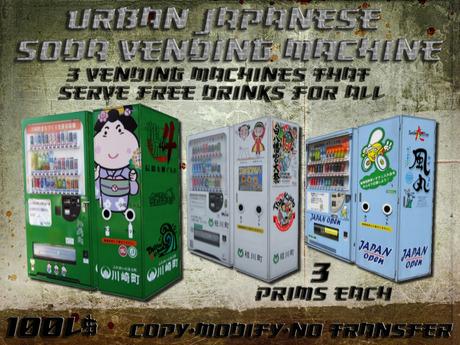 Urban Japanese Soda Vending Machines