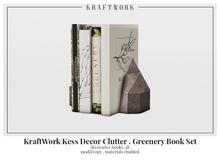 Kraftwork Kess Corner Unit & Clutter . Greenery Book Set
