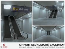 Airport Escalators Backdrop
