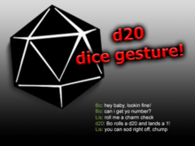 Gesture: Roll d20!