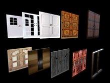 10 Linkable double doors - lockable copy-modif - ドア