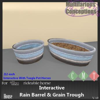 [MC] interactive rain barrel and grain trough [add me]
