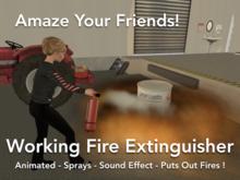 Working Fire Extinguisher > Animation > Spray > Sound > It Works!