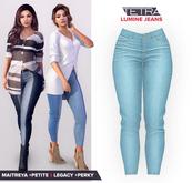TETRA - Lumine - Capri Jeans (Cyan)