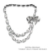 Indyra Originals: Chablis Diamond & Leather Multi-Strand necklace-Silver